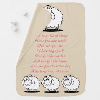 Baa Baa Black Sheep Nursery Rhyme Baby Blanket