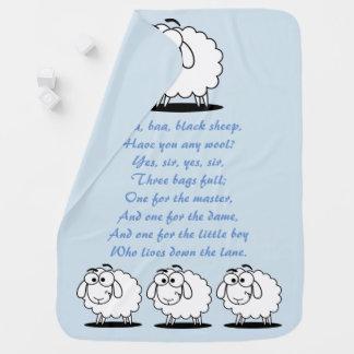 Baa Baa Black Sheep nursery rhyme baby blue Baby Blanket
