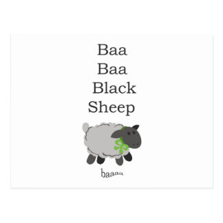Baa Baa Black Sheep Postcard