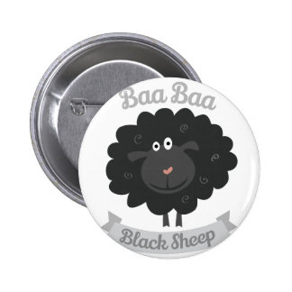 Baa Black Sheep 6 Cm Round Badge