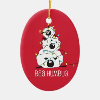 Baa Humbug - Christmas Sheep Christmas Ornament