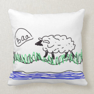 Baa Sheep Design Artwork Cushion