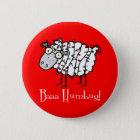 Baaa Humbug Christmas 6 Cm Round Badge
