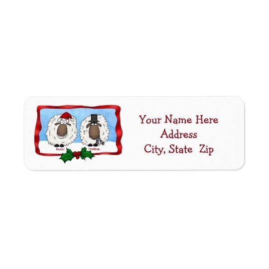 Baaa Humbug Sheep Address Label
