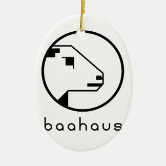 Baahaus Ceramic Oval Decoration