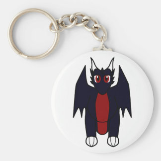 Baal The Obsidian Dragon Basic Round Button Key Ring