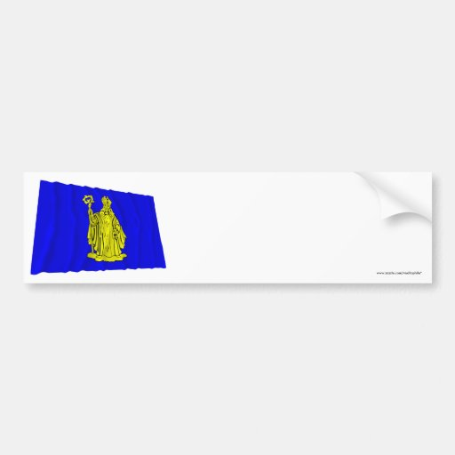 Baarle-Hertog Waving Flag Bumper Stickers