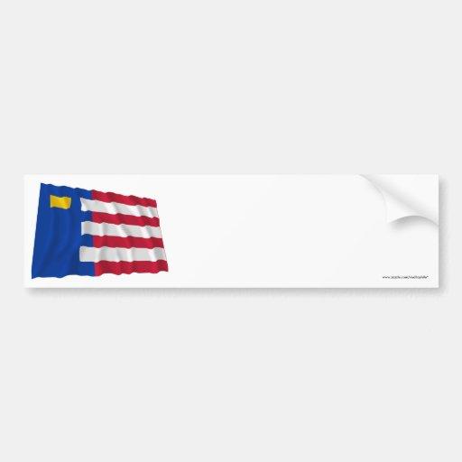 Baarle-Nassau Waving Flag Bumper Stickers