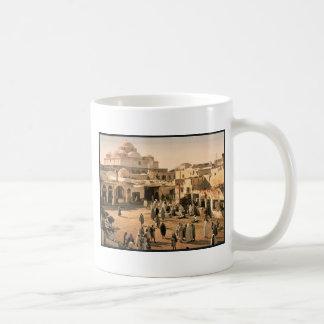 Bab Suika-Suker Square, Tunis, Tunisia vintage Pho Basic White Mug