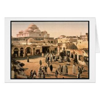 Bab Suika-Suker Square Tunis Tunisia vintage Pho Greeting Card