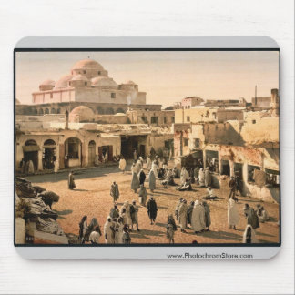 Bab Suika-Suker Square, Tunis, Tunisia vintage Pho Mouse Pad