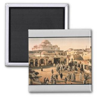 Bab Suika-Suker Square, Tunis, Tunisia vintage Pho Square Magnet