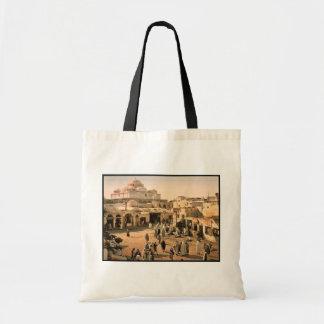 Bab Suika-Suker Square, Tunis, Tunisia vintage Pho Canvas Bags
