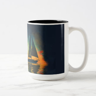 Baba 35 Sailboat Two-Tone Coffee Mug
