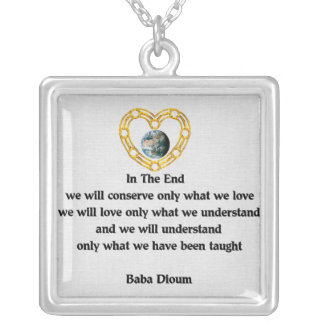 Baba Dioum Quote Necklaces
