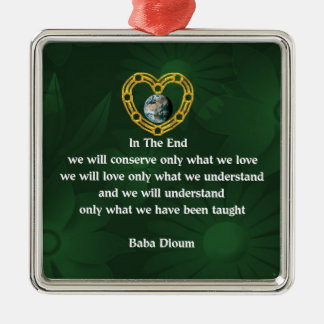 Baba Dioum Quote Silver-Colored Square Decoration