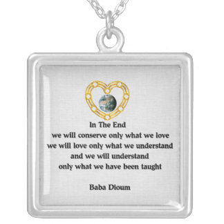 Baba Dioum Quote Silver Plated Necklace
