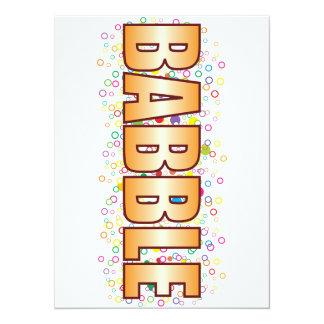Babble Bubble Tag 14 Cm X 19 Cm Invitation Card