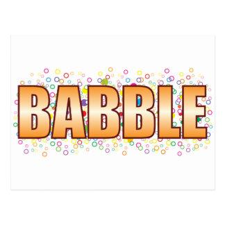 Babble Bubble Tag Postcard