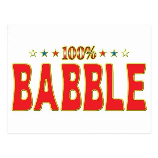 Babble Star Tag Post Card