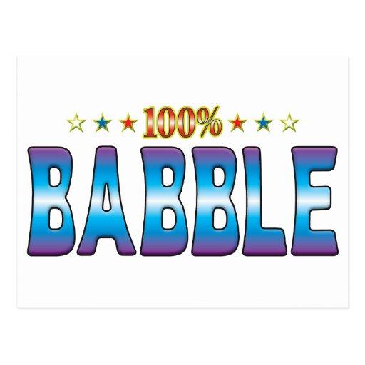 Babble Star Tag v2 Post Card