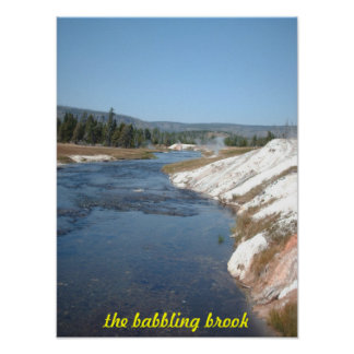 Babbling brook poster
