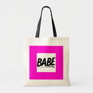BABE FLIRTING SHOUTOUT WOMAN GIRL GOOD-LOOKING CHE CANVAS BAGS
