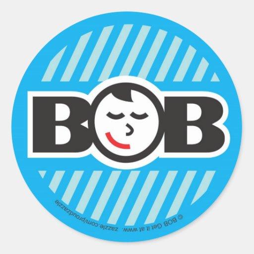 Babe on Board (boy) Round Stickers