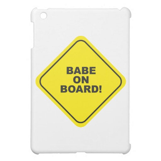 babe on board iPad mini cases
