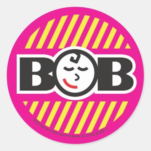 Babe on Board Round Sticker