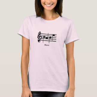 """Babe"" Treble Clef Women's Shirt"