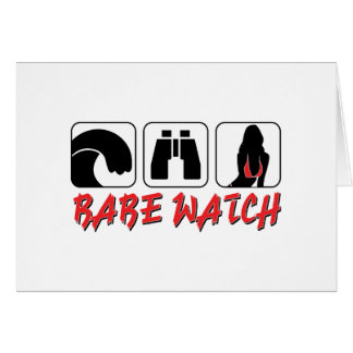 Babe Watch - Sun Surf and Girls Card