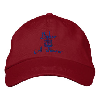 Baber Name With Gaelic Meaning Red Embroidered Cap