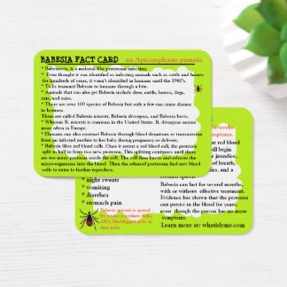 Babesia Fact Educational Card