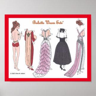 Babette Wears Erte Paper Doll Poster