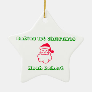 Babies 1st Christmas Personalized Star Christmas Ornament