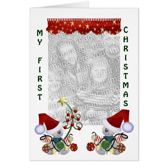 Babies Baby First Christmas Photo Card