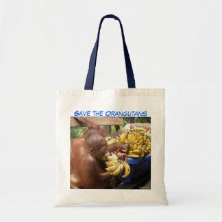 Babies & Bananas in Borneo Budget Tote Bag