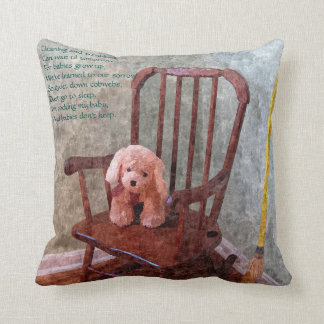 """Babies don't keep"" Throw Pillow"