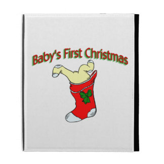 Babies First Christmas iPad Folio Covers