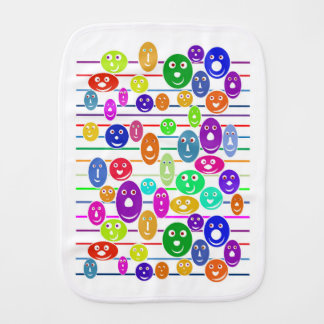 Babies Smiley Faces Baby Burp Cloths