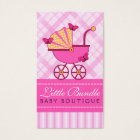 Babies Store Baby Shop Boutique Pink Stroller Business Card