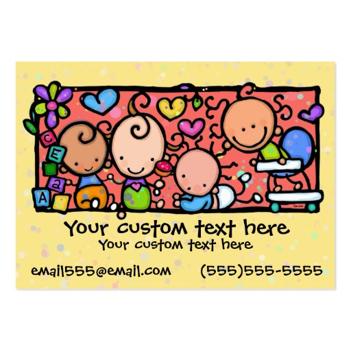 Babies Toddlers Daycare Nursery YELLOW Business Card Templates