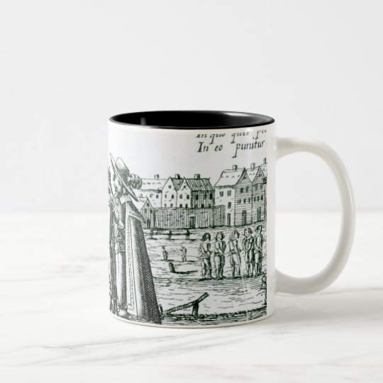 Babington with his Complices in St. Giles Two-Tone Coffee Mug