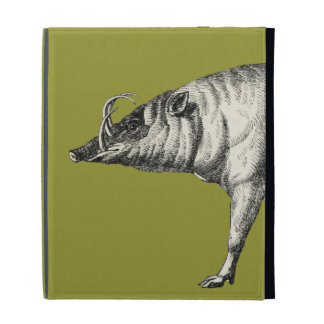 Babirusa Wild Pig Boar Hog Warthog Vintage iPad Cases