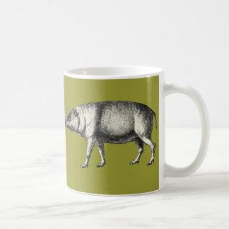 Babirusa Wild Pig Boar Hog Warthog Vintage Coffee Mug