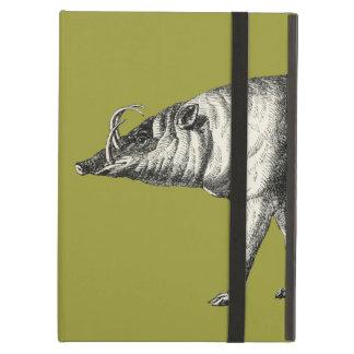 Babirusa Wild Pig Boar Hog Warthog Vintage Cover For iPad Air