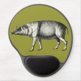 Babirusa Wild Pig Boar Hog Warthog Vintage Gel Mouse Mat