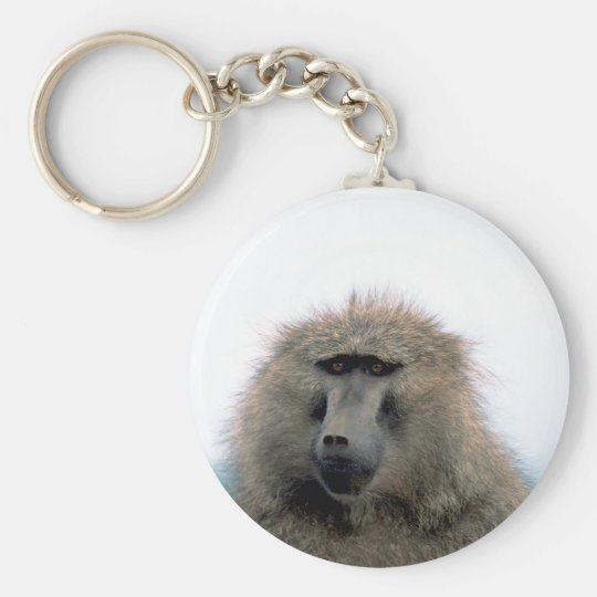 Baboon Basic Round Button Key Ring