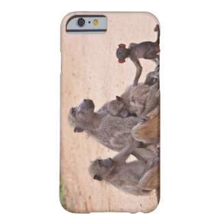 Baboon family sitting on ground barely there iPhone 6 case